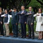 Encabeza Ricardo Ortiz ceremonia de colocación del bando solemne de festejos patrios