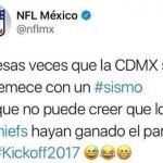 NFL México hizo broma de mal gusto sobre sismo; borró tuit después