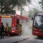 Se registra connato de incendio en el metro