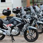 Alcalde realiza entrega de moto patrullas a elementos policíacos