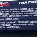 """Aparecen narco mantas en Irapuato; advierten una """"limpia"""" en la ciudad"""