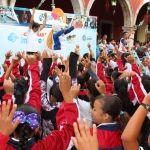 800 niños se suman a la activación  en carreras infantiles en Pénjamo