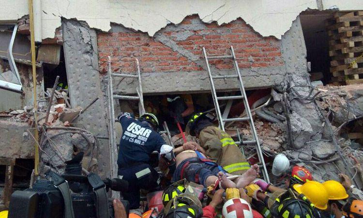 Photo of USAR-Guanajuato en Ciudad de México, rescató una persona con vida y una fallecida