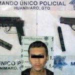 Lo detienen con dos armas de fuego en Huanímaro