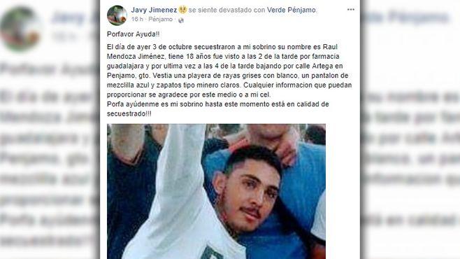 Photo of Denuncia dirigente del PVEM Pénjamo secuestro de su sobrino