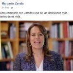 Renuncia Margarita Zavala al PAN