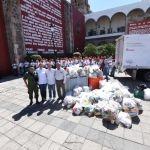 Cumplen meta en colecta de alimentos para damnificados