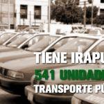 Tiene Irapuato 541 unidades de transporte público