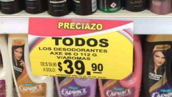 Photo of Por error en letrero, consumidor paga 39.90 pesos por 235 desodorantes