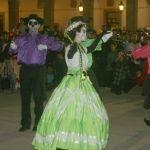 Baile de catrinas en el palacio municipal