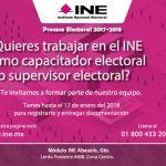 INE comienza reclutamiento para proceso electoral
