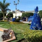 Decoran el Jardín Principal en Cuerámaro
