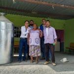 Alcalde visita a los beneficiados de programa REPROCOM en el Platanar y Puerta de la Reserva