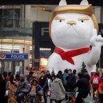 """En China """"convierten"""" a Trump en perro"""