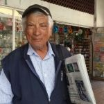 """""""El Gorupo"""", voceador de periódico en Irapuato a sus 77 años"""