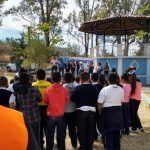 Arrancan rehabilitación de plaza Juan José Torres Landa en la comunidad del Saucillo