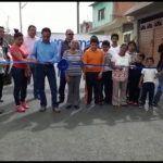 Entrega alcalde obra de pavimentación y ampliación de la red de agua potable