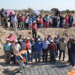 Supervisa Samuel Amezola obra de drenaje en San Antonio de Horta