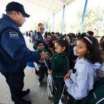 Retoman Secretaría de Seguridad ciudadana y educación programa de honores a la bandera en escuelas