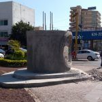 A casi un año, escultura conmemorativa de 100 años de Escuela Médico Militar