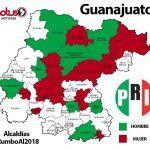 Listas alcaldías para mujeres y hombres del PRI  en Guanajuato