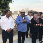 Inauguran pavimentación de la Calle Matamoros en la Puerta de Agua Caliente