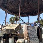 Continúan avances en la rehabilitación del kiosco en el Jardín Principal de Cuerámaro