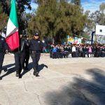 Realizan honores a la bandera en San Nicolás Temascatío