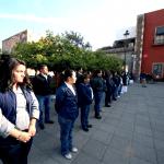 Autoridades civiles, militares y educativas  conmemoran el CI Aniversario de la Constitución