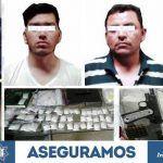 Capturan agentes de AIC y elementos de FSPE a dos jóvenes con más de 17 mil 500 dosis de droga y un arma de fuego en Irapuato