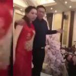 Padre ebrio arruina boda y besa a novia de su hijo