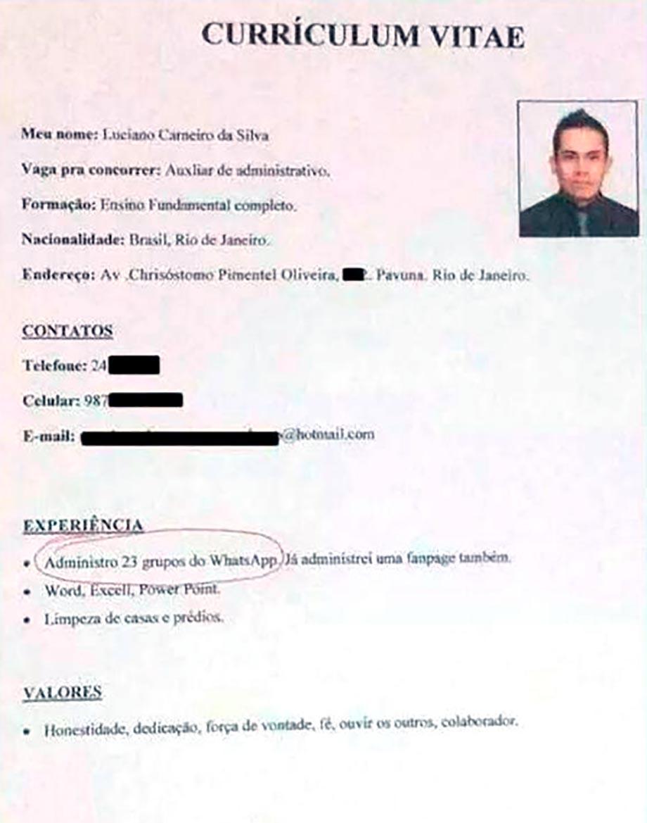 Añadió peculiar experiencia laboral en su CV y se burlaron de él
