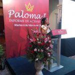 Rinde Paloma I informe de actividades