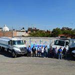 Entrega alcalde 4 unidades para mejorar servicios en Cuerámaro