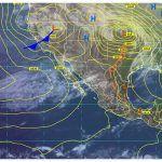 Ligera probabilidad de tormentas eléctricas hacia el noreste, así como probables lloviznas al oriente del estado de Guanajuato