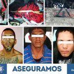 Detienen a tres personas y aseguran poderoso arsenal y vehículos robados en Irapuato
