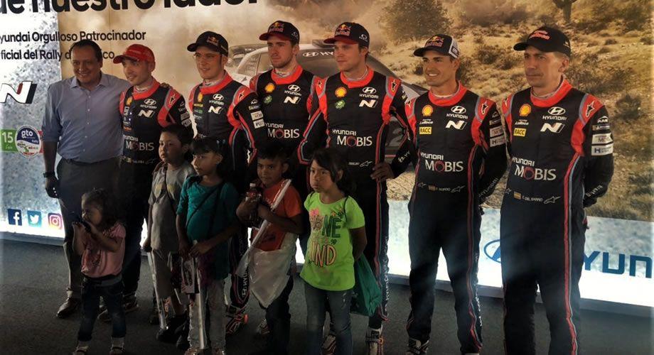 Photo of Niños beneficiarios del Rally de la Salud 2018 conviven con pilotos de la Competencia Mundial de Rallies 2018