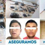 PGJE detiene a grupo delictivo en San José Iturbide; se les aseguró arsenal, explosivos, chalecos tácticos y droga