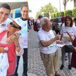 Entre gorras, playeras, banderas y calcomanías arrancaron campañas por alcaldías en Guanajuato