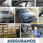 PGJE y la SSPE asegura arsenal, cientos de dosis de drogas, vehículos e hidrocarburo ilegal