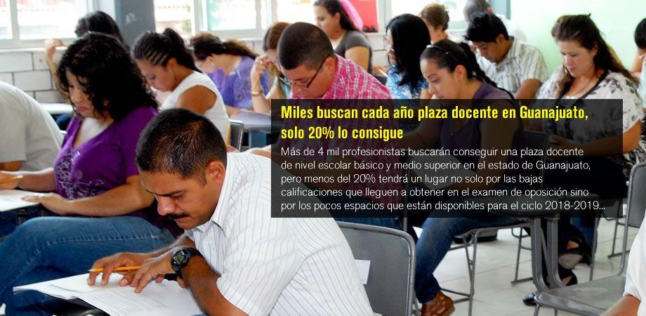 Photo of Miles buscan cada año plaza docente en Guanajuato, solo 20% lo consigue