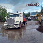 """Crece el arroyo en Estación Corralejo y """"se divide"""" la comunidad"""