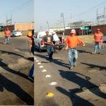 """Candidato de Movimiento Ciudadano, en Huanímaro """"gasta recursos electorales en bacheo"""""""