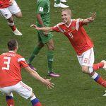 Rusia goleó 5-0 a Arabia Saudita en el partido inaugural del Mundial