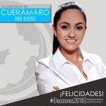 Ana Bueno, es la primera alcaldesa de Cuerámaro