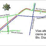 Listas rutas alternas por cierre total de Díaz Ordaz