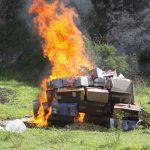 Incinera PGR narcóticos y destruye objetos del delito