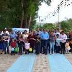 Inaugura Moy Cortéz  pavimentación de  calle principal del Platanar