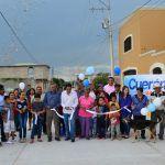 Inaugura alcalde calle Guanajuato en Fraccionamiento Cuerámaro