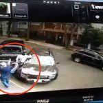 ¡Papá héroe! atropelló a ladrón para salvar a su hija de terrible robo en CDMX